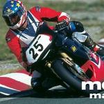 S serijskim motociklom na državno prvenstvo. Pod tekmovalnimi številkami so s tapeto prelepljene luči.