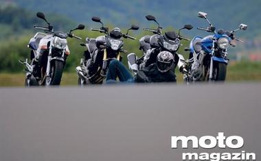 Honda CB 600 F Hornet,  Kawasaki Z 750, Suzuki GSF 650 Bandit, Suzuki GSR 600 ABS