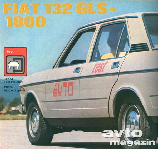 1974 Fiat 132 Gls 1800. 1974. Fiat 132 GLS-1800