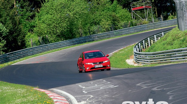 Honda Civic Type-R in Nordschleife