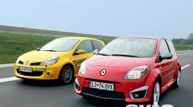 Vzporedni test: Renault Twingo RS in Clio 2.0 16v RS F1 Team R27