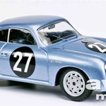 PORSCHE 356 A 1600 GS CARRERA GT 1959 -  Od 1957 do 1958 je Porsche svoj model 356 A 1600 GS CARRERA GT izdelal v 700 primerkih. Namenjen je bil tekmovanjem na gorskih in reli dirkah. Izdelovali so ga v treh karoserijskih izvedbah: Coupe, Cabriolet in Hardtop-Coupe. Schuco je ta avtomobil izdelal v reli izvedbi s startno številko 27, in sicer v omejeni seriji 1.000 kosov. S takšnim avtomobilom sta Paul-Ernst Strähle in Robert Buchet leta 1959 zmagala na reliju Liége–Rim–Liége.