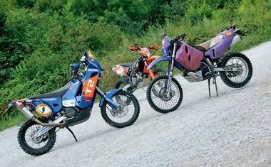 KTM LC4 620 Rally, KTM 690 Rally Replica, KTM EXC 450