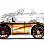 Zanimiva primerjava oblik med malim 'Kommissbrotom' in Audijem TT iz leta 2000. Oba sta izdelana po podobnih oblikovalskih smernicah. (foto: Georg Gedl)