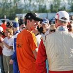Zadovoljna Sedlar (v oranžni majici) in Tršan (desno) po dirki. (foto: MG)
