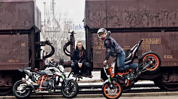 Zabavni test: Rok Bagoroš posodi KTM 200 in 690 Duke (foto: Saša Kapetanovič)