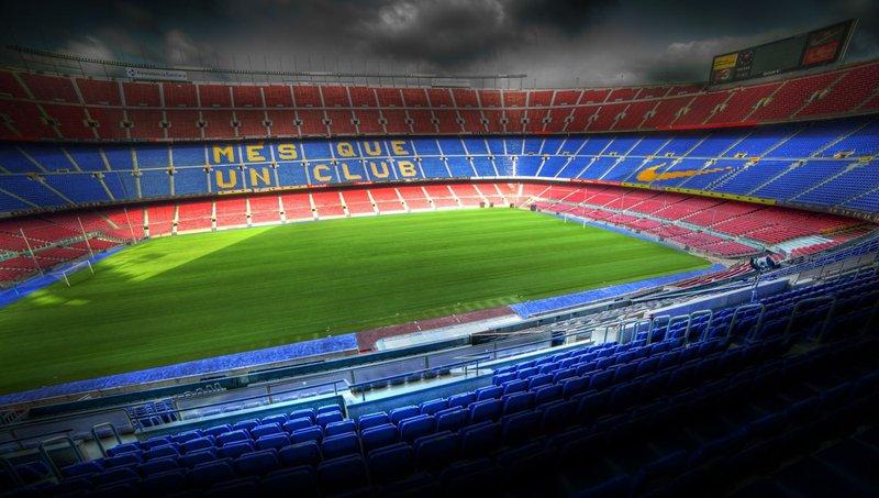 Stadion Camp Nou v Barceloni