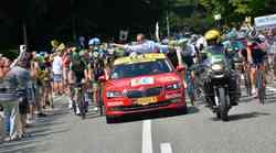 """Novi Superb je """"rdeči avtomobil"""" na Tour de France"""