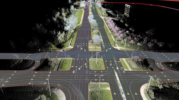 Stalno osveženi digitalni zemljevid (foto: HERE)
