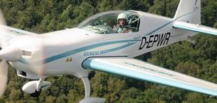 Siemens opravil polet z 260-kilovatnim elektromotorjem