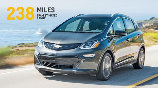 Chevrolet razkril Boltov doseg (foto: GM)