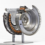 Integrirani starter-generator v prerezu. (foto: Daimler)
