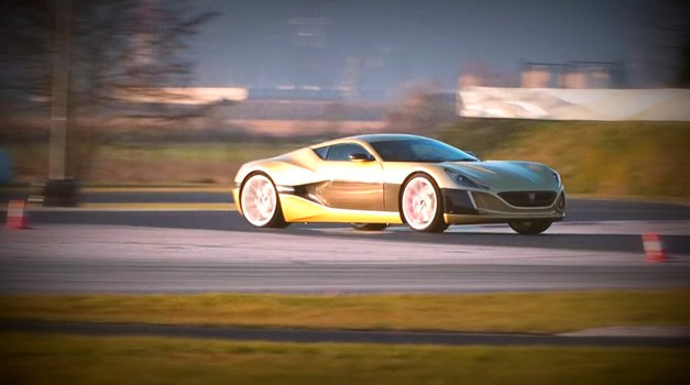Opla! Na Racelandu ne testira le naše uredništvo! Video: Rimac Concept one in Bugatti Veyron (foto: Youtube)