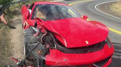 Povabljeni na prvoosebno vožnjo s Ferrarijem 458 Italia, ki se je končala s totalko