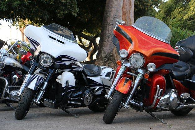 Foto: ko se v Palermu zberejo lastniki Harley-Davidsonov (foto: Matevž Hribar)