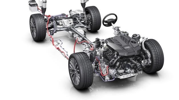 Novi Audi A8 prihaja z blagim hibridom (foto: Audi)