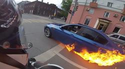 Le kaj je bil razlog, da je sredi vožnje zagorel BMW M5?
