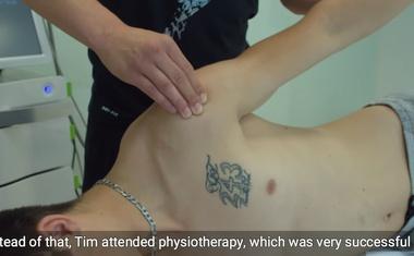 """Video, ki prikazuje Gajserjevo rehabilitacijo. Dr. Matjaž Vogrin: """"Operacija na srečo ni bila potrebna"""""""