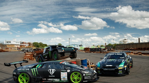 Kurjenje gum na drugo potenco: Murcielago in GT-R v Battledriftu št. 2 (video) (foto: Monster Energy)