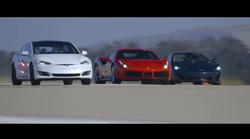 Kako je Tesla v največji tekmi pospeševanja prehitela Ferrarija, Porscheja in druge super avtomobile