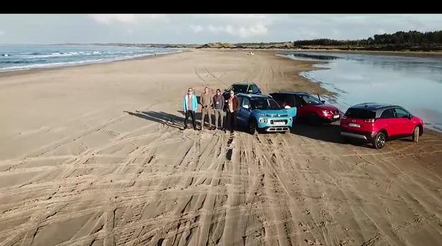 AM interno #04: kandidati za Evropski avto leta 2018 na peščeni plaži