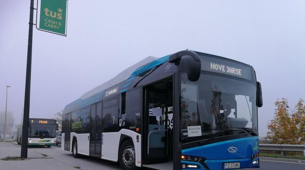 Ljubljana preizkuša nov električni avtobus - vožnje do konca tedna brezplačne (foto: Jure Šujica)
