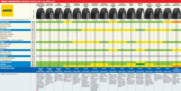 Zimske gume 2017/18 (test AMZS)