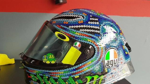 Drudi si je dal duška: čelada, kot je Rossi še ni imel na glavi (foto: Drudi Performance)