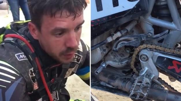 Dakar 2018-2: srbski dirkač pomagal Marčiču sredi sipin (foto: David Stropnik)