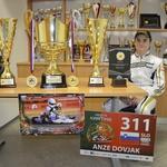 Anže Dovjak: iz smučanja v karting (foto: Anže Dovjak osebni arhiv)