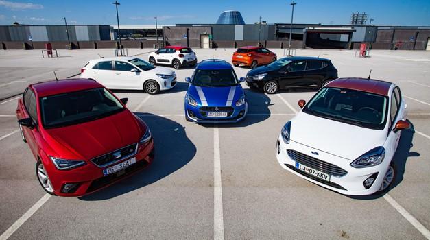 Primerjalni test manjših družinskih avtomobilov: Citroën C3, Ford Fiesta, Kia Rio, Nissan Micra, Renault Clio, Seat Ibiza, Suzuki Swift (foto: Saša Kapetanovič, Petar Santini)