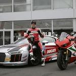 Carlos Checa Audijev gost in dirkač na dirki na Nürburgringu (foto: Ducati)