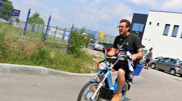 Električni Tomos Automatic kot dostavno vozilo v podjetju Rimac Automobili (foto: Matevž Hribar)