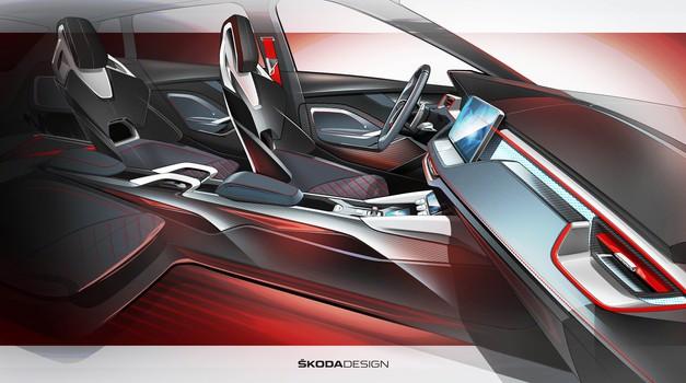 Škoda nadaljuje napoved študije Vision RS z vpogledom v njeno notranjost (foto: Škoda)