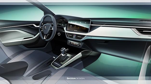 Škoda Scala sledi konceptu Vision RS tudi v notranjosti (foto: Škoda)