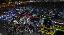 Na Japonskem 200 Lamborghinijev pozdravilo rekorderja Zelenega pekla