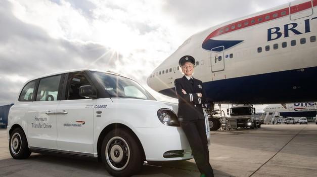 Londonski električni taksiji po novem tudi na Heathrowu (foto: British Airways)
