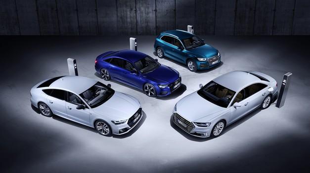 Audi v Ženevo s štiriperesno deteljico hibridov (foto: Audi)