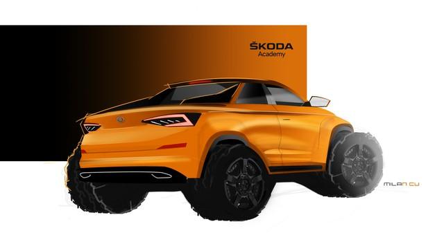 Škoda se vrača v razred pick-upov, in to kar s Kodiaqom (foto: Škoda)