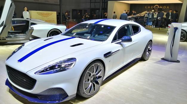 Avto Šanghaj 2019: Aston Martina Rapide je stresla elektrika (foto: Dušan Lukič)