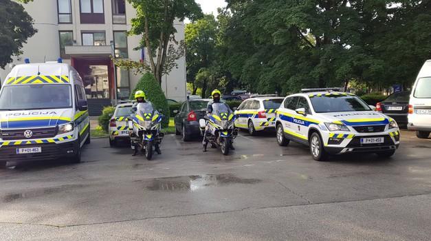 Slovenski policisti gosti dirke Moto GP v Brnu (foto: Policija)