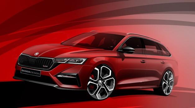 Potrjeno: Nova Škoda vRS bo hibridna, tu pa so prve skice (foto: Škoda)