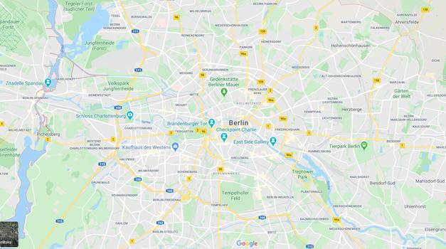 Kako ustvariti virtualni prometni zamašek na Google Maps? Nemcu je uspelo (foto: Posnetek zaslona: Google maps)