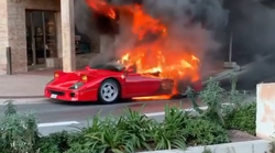 Video: Ferrari F40 izginil v plamenih