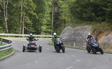 Vzporedni test: Can-Am Ryker, Yamaha Niken, Quadro Qooder - Motor, skuter in vesoljec
